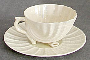 Irish Belleek Neptune Shell Teacup and Saucer (Image1)
