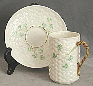Vintage Irish Belleek Cup and Saucer (Image1)