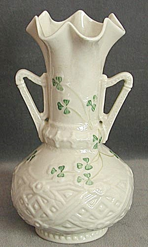 Vintage Irish Belleek 2 Handled Vase (Image1)