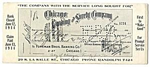 Vintage Blotter Foreman Bros. Banking Co. (Image1)