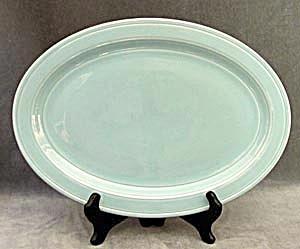 Vintage Aqua Vernon Kilns Platter (Image1)