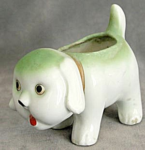 Vintage Comical Dog Planter