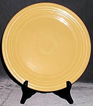 "Vintage Yellow Fiesta 9 1/2"" Plates Pair (Image1)"