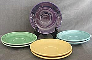 Vintage Fiesta Saucers Set of 7 (Image1)
