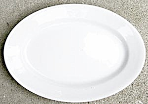 Vintage J & G Meakin White Ironstone Platter (Image1)