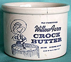 Willow Farm Butter Crock