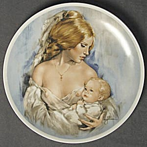 Royal Bayreuth Mother's Day Plate 1977 Young Americans (Image1)