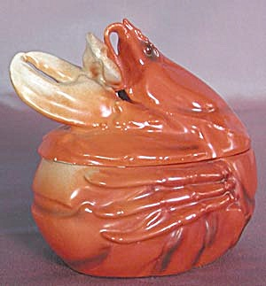 Royal Bayreuth Orange Lobster Covered Bowl (Image1)