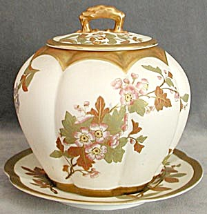 Vintage Royal Worcester Biscuit Jar (Image1)