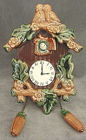 Vintage China Cuckoo Clock Wall Pocket