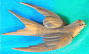 Wooden Carved Barn Swallow
