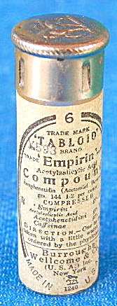 Vintage Glass Empirin Compound Tabloid Bottle