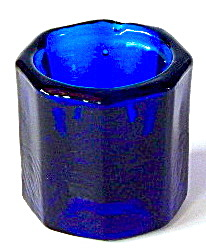 Vintage Cobalt Dental Filling Glass Bowl