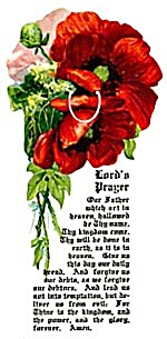 Vintage Celluloid Poppy Bookmark (Image1)