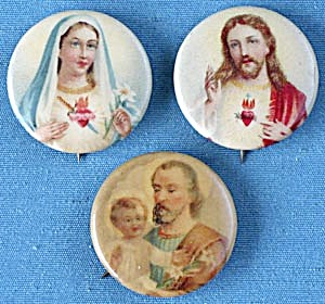 Vintage Religious Celluloid Pinback Buttons