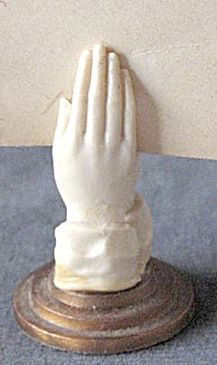 Vintage Miniature Praying Hands That Clasp