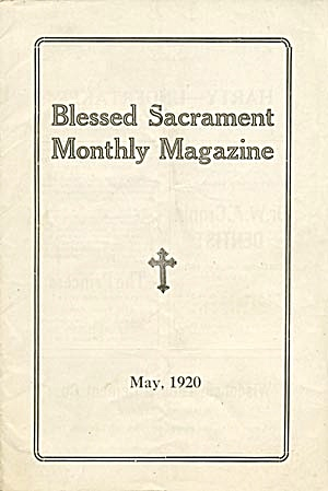 Blessed Sacrament Monthly Magazine 1920
