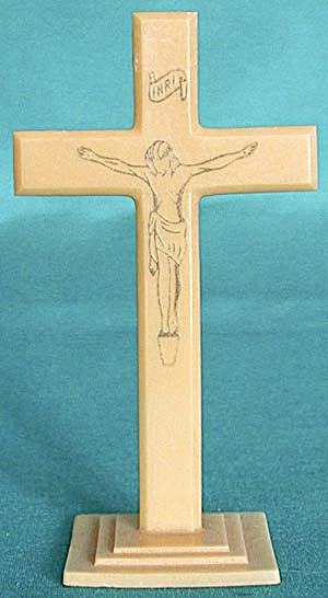 Vintage Ivory Colored Crucifix Figurine (Image1)