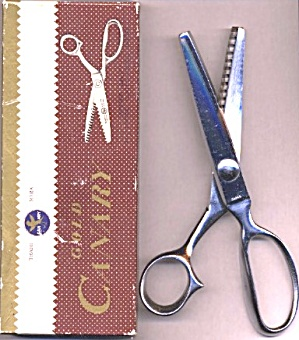 "Gold Canary Chrome Plated 8"" Pinking Shears"