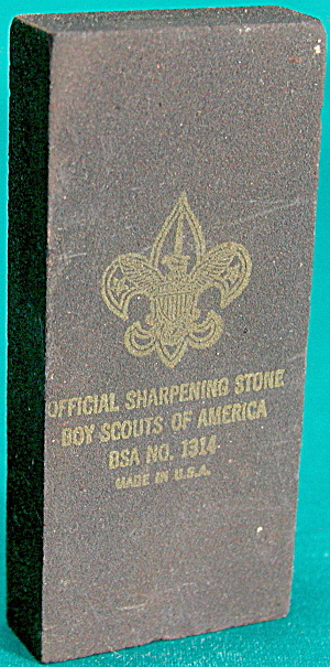 Vintage Official Boy Scouts Of America Wet Stone