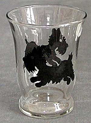 Vintage Scottie Juice Glass (Image1)