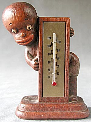 Vintage Diaper Dan Black Boy Thermometer (Image1)