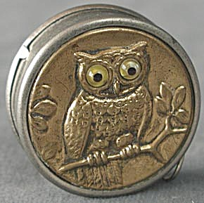 Vintage German Owl Sewing Tape Measure (Image1)