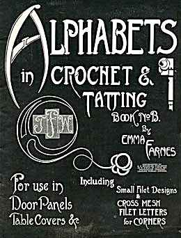 Vintage Alphabets in Crochet & Tatting Pattern Book (Image1)