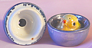 Lusterware Egg Salt And Pepper With Chick 2 Piece
