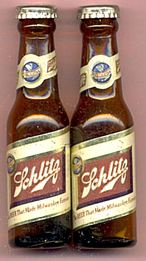 Vintage Schlitz Beer Salt Pepper Shakers