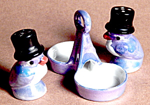 Lusterware Bird Salt And Pepper In Tray