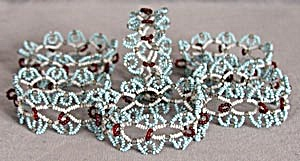 Vintage Beaded Napkin Rings Set of 6 (Image1)
