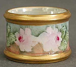 Vintage Hand Painted China Napkin Ring