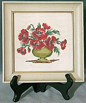 Vintage Petite Point Poppies Picture (Image1)