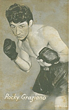 Rocky Graziano Boxing Exhibit Card