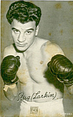 Slug Larkin Boxing Exhibit Card