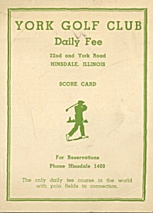 Vintage Golf Score Cards Ste Of 2