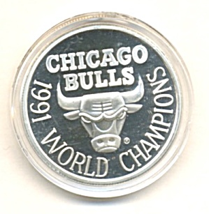 Chicago Bulls World Champs Silver Coin Limited Edition