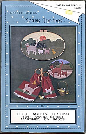 Bette Ashley Applique Pattern Morning Stroll Cats (Image1)
