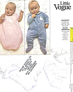 Vintage Little Vogue 1090 Infants Layette Pattern (Image1)