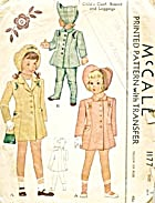Vintage Mccall Child's Coat Bonnet & Leggings