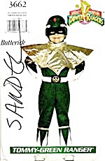 Vintage Butterick Tommy Green Power Ranger