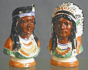 Indian Chief & Princes: China, Salt & Pepper Shakers (Image1)