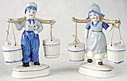 Vintage Dutch Boy And Girl Salt & Peppers