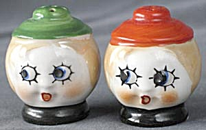 Vintage Boy & Girl Luster Salt & Pepper Shaker (Image1)