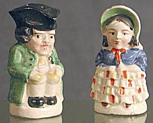 Colonial Couple: China Salt & Peppers (Image1)