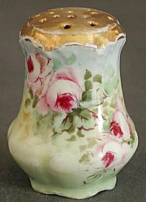 Vintage Baveria Hand Painted Rose Single Salt Shaker