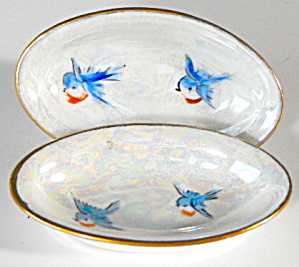 Pearlescent Bluebird Luster Salts Set Of 2