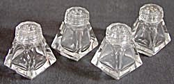 Vintage Cut Glass Salt & Pepper Shakers 2 Sets (Image1)