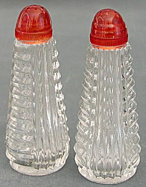 Vintage Glass Salt & Pepper Shakers (Image1)